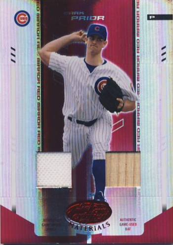 2004 Leaf Certified Materials Mirror Combo Red #133 Mark Prior Bat-Jsy