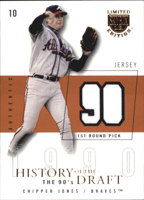 2004 SkyBox LE History Draft 90's Jersey #CJ Chipper Jones/90