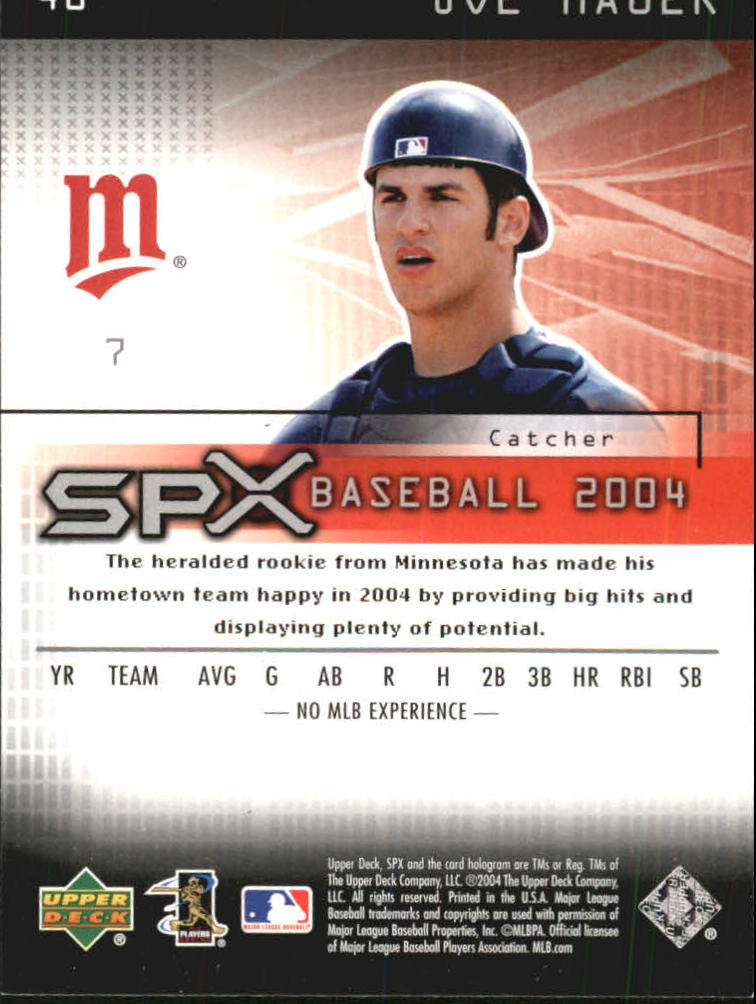 2004 SPx #48 Joe Mauer back image