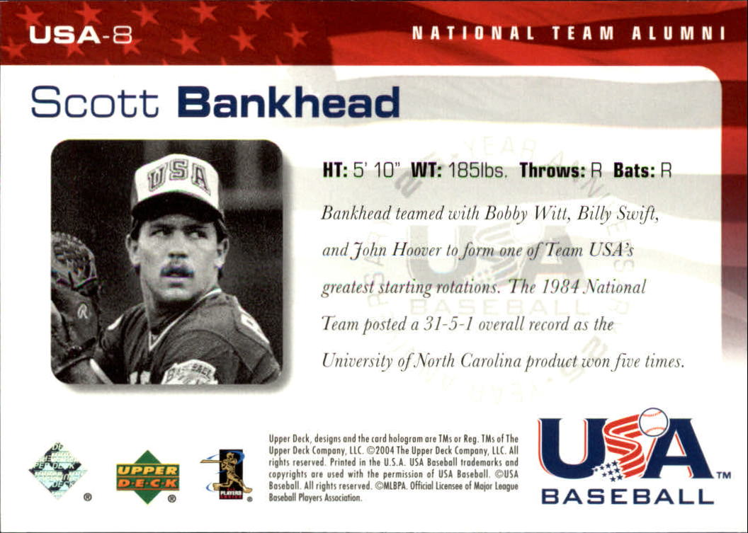 2004 USA Baseball 25th Anniversary #8 Scott Bankhead