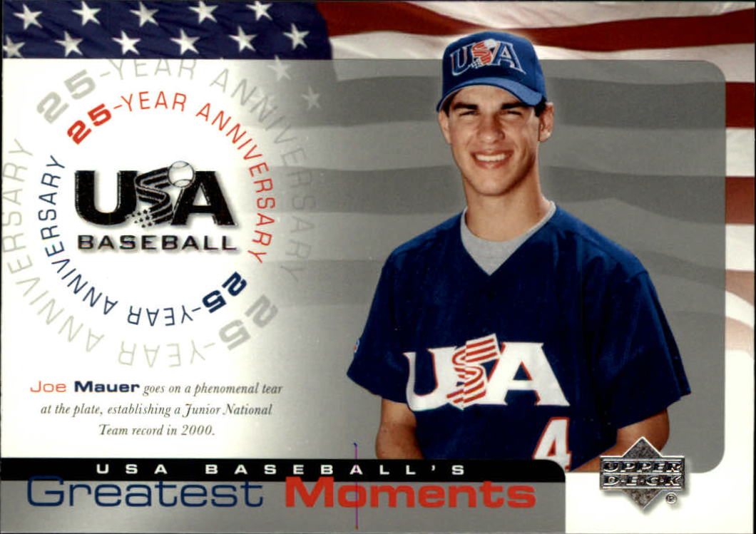 2004 USA Baseball 25th Anniversary #200 Joe Mauer GM