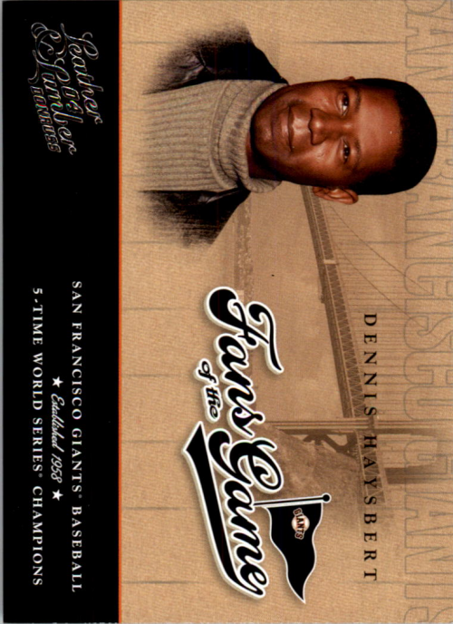 2004 Leather and Lumber Fans of the Game #2 Dennis Haysbert