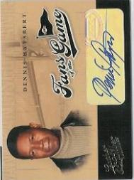 2004 Leather and Lumber Fans of the Game Autographs #2 Dennis Haysbert