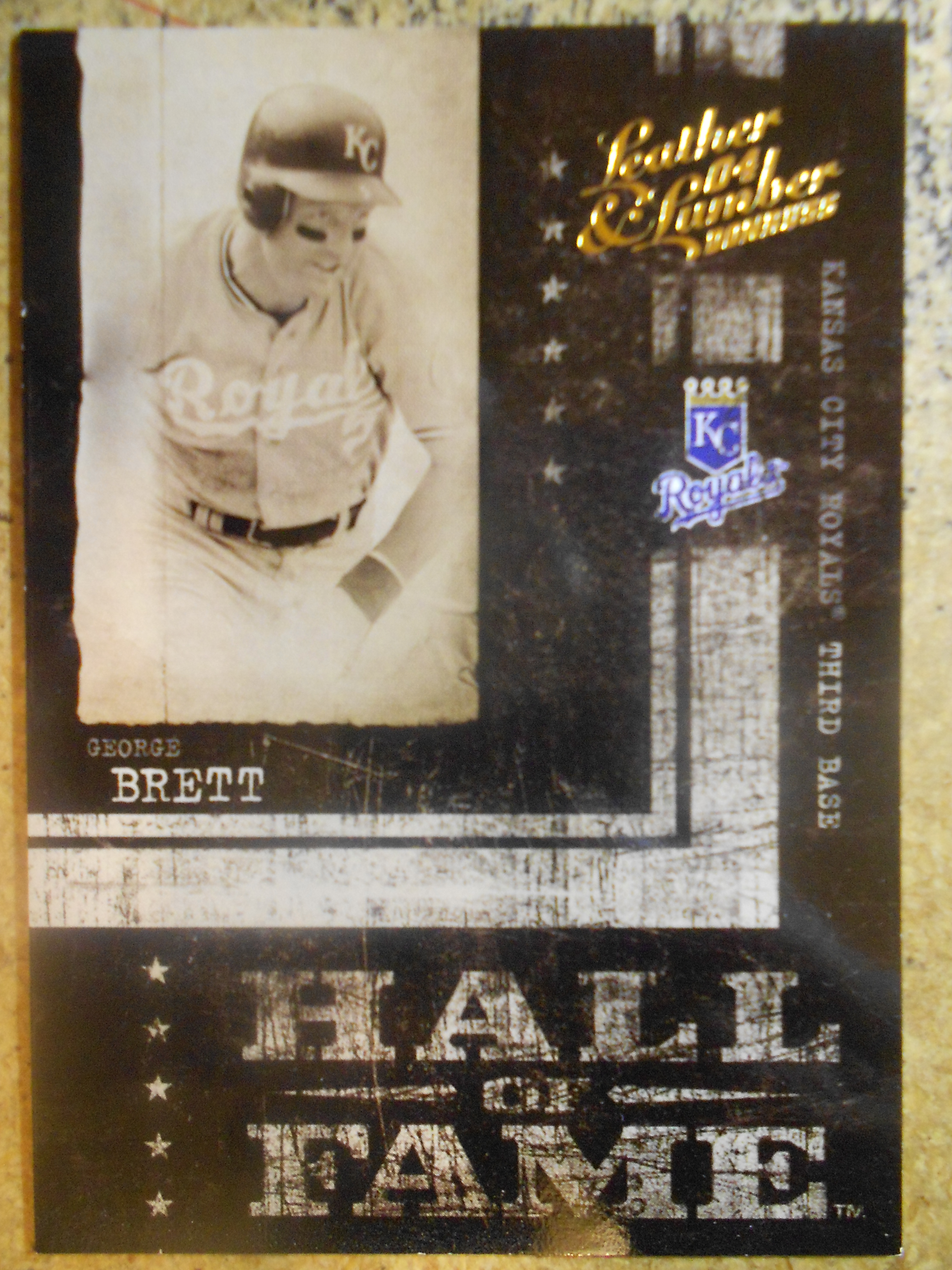 2004 Leather and Lumber Hall of Fame #3 George Brett/1999
