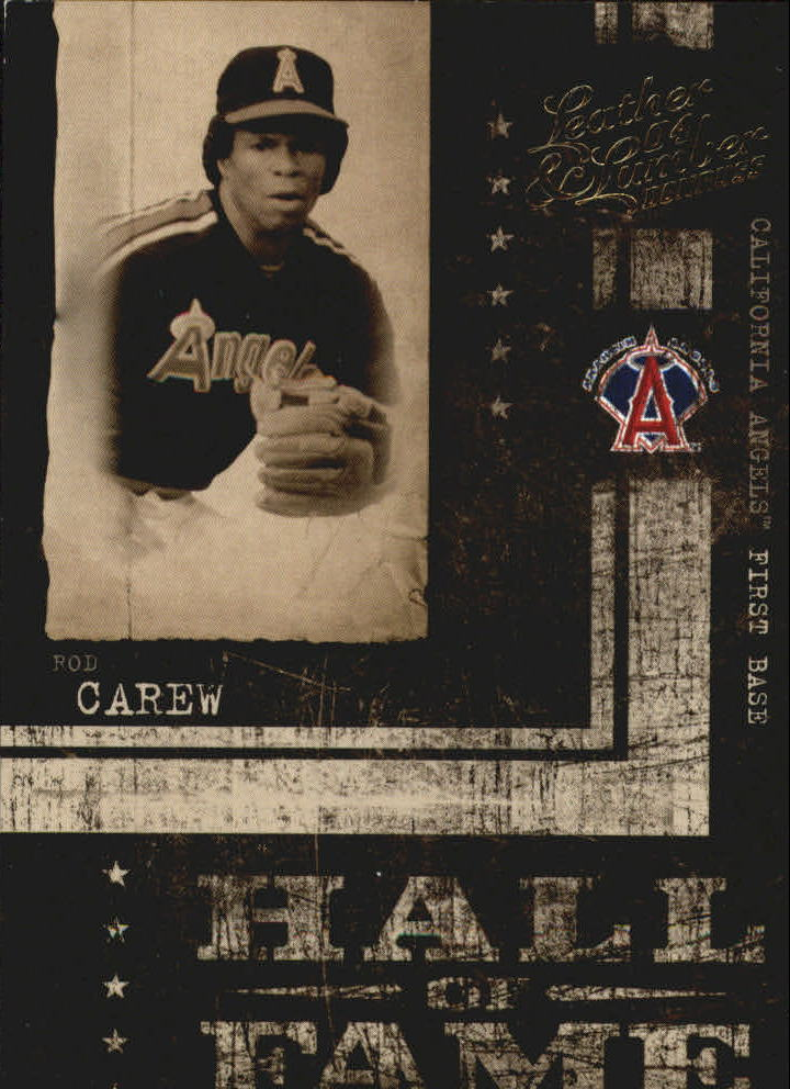 2004 Leather and Lumber Hall of Fame #9 Rod Carew/1991