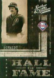 2004 Leather and Lumber Hall of Fame Silver #5 Mike Schmidt