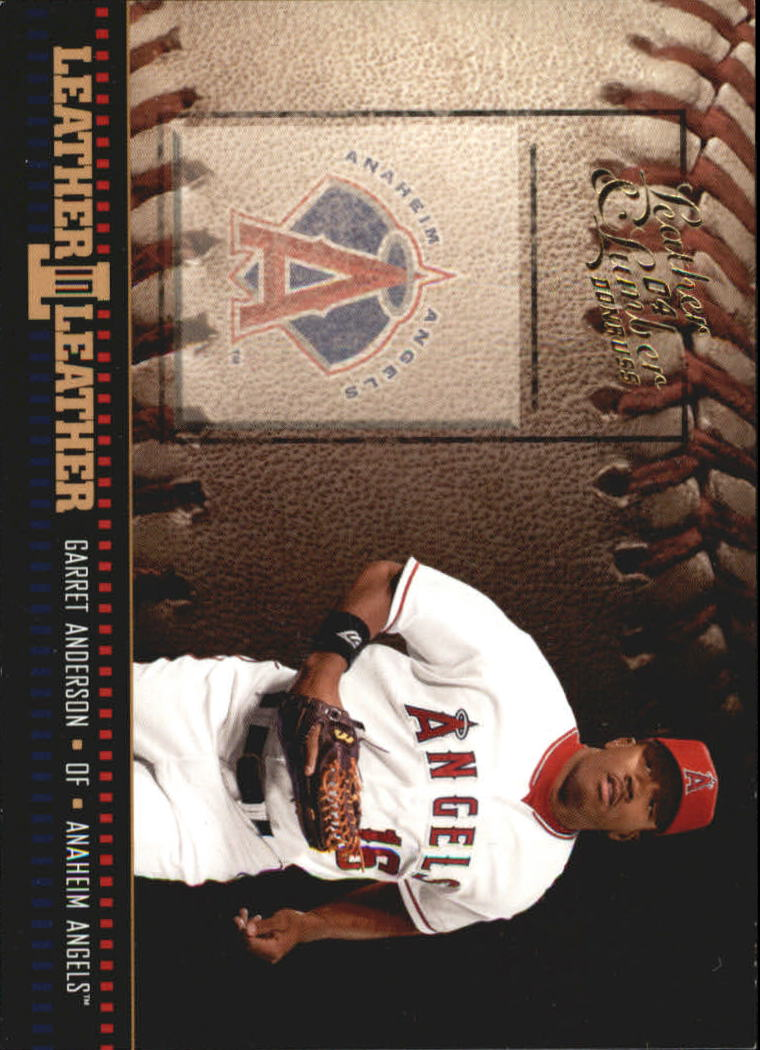 2004 Leather and Lumber Leather in Leather #1 Garret Anderson BB