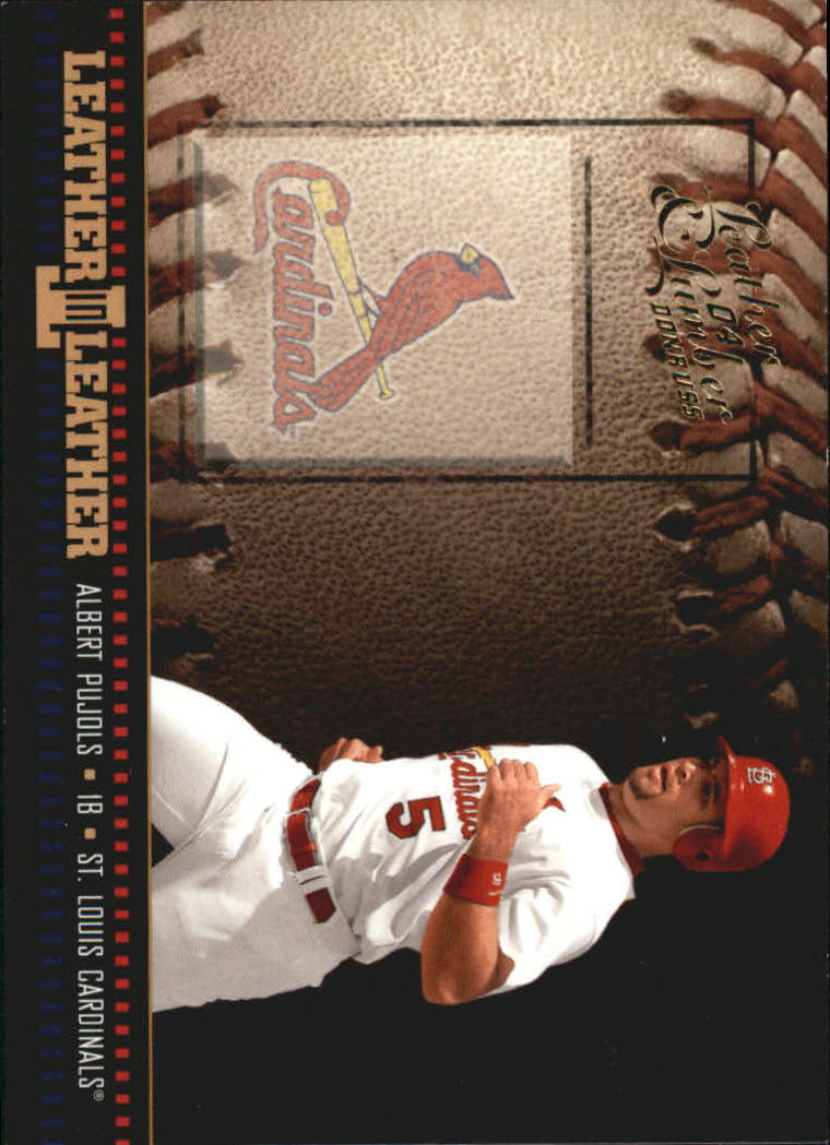 2004 Leather and Lumber Leather in Leather #2 Albert Pujols BB