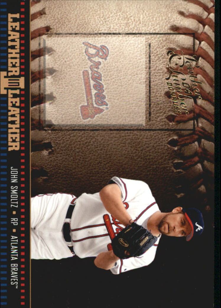 2004 Leather and Lumber Leather in Leather #3 John Smoltz BB