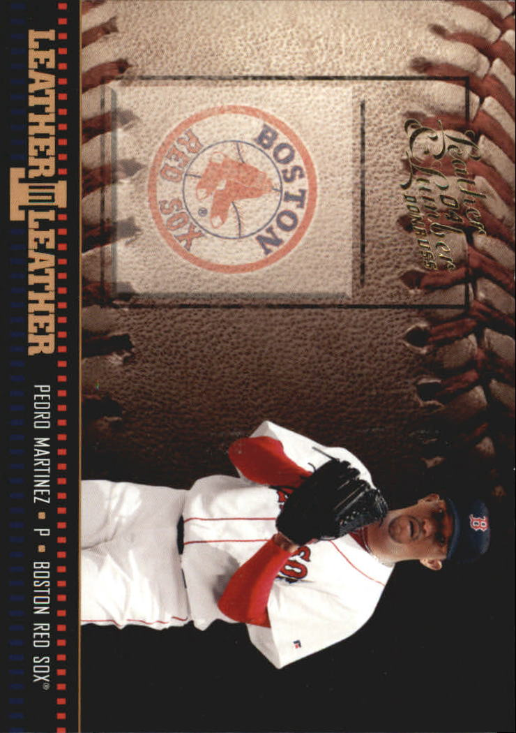 2004 Leather and Lumber Leather in Leather #6 Pedro Martinez BB