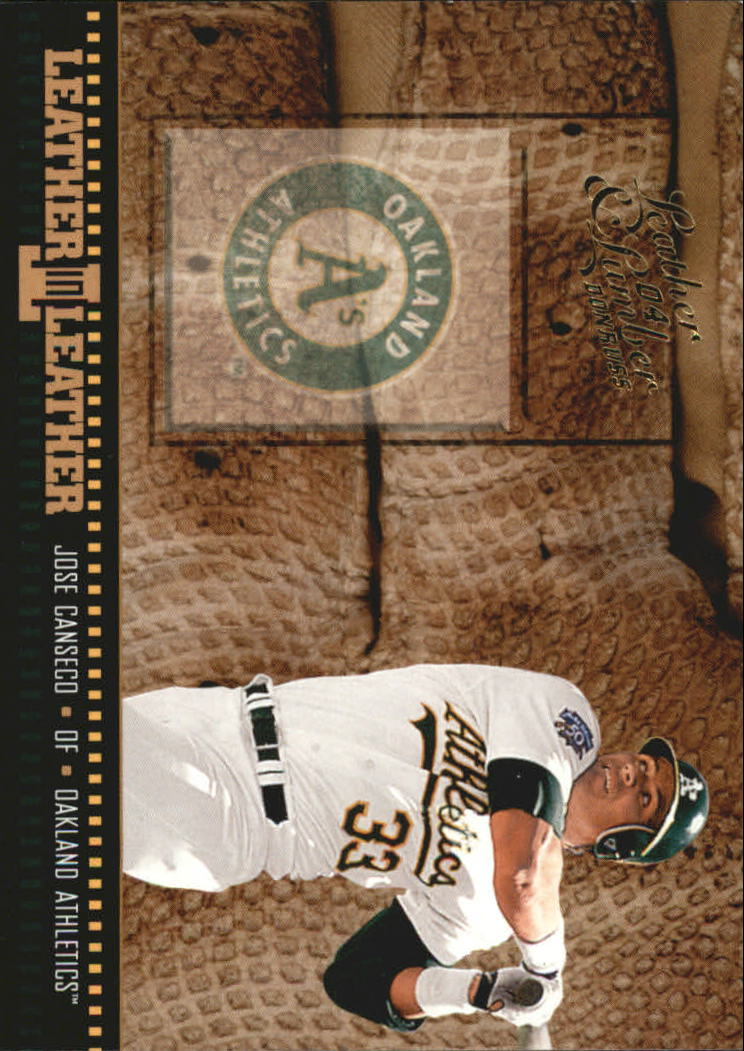 2004 Leather and Lumber Leather in Leather #16 Jose Canseco BG