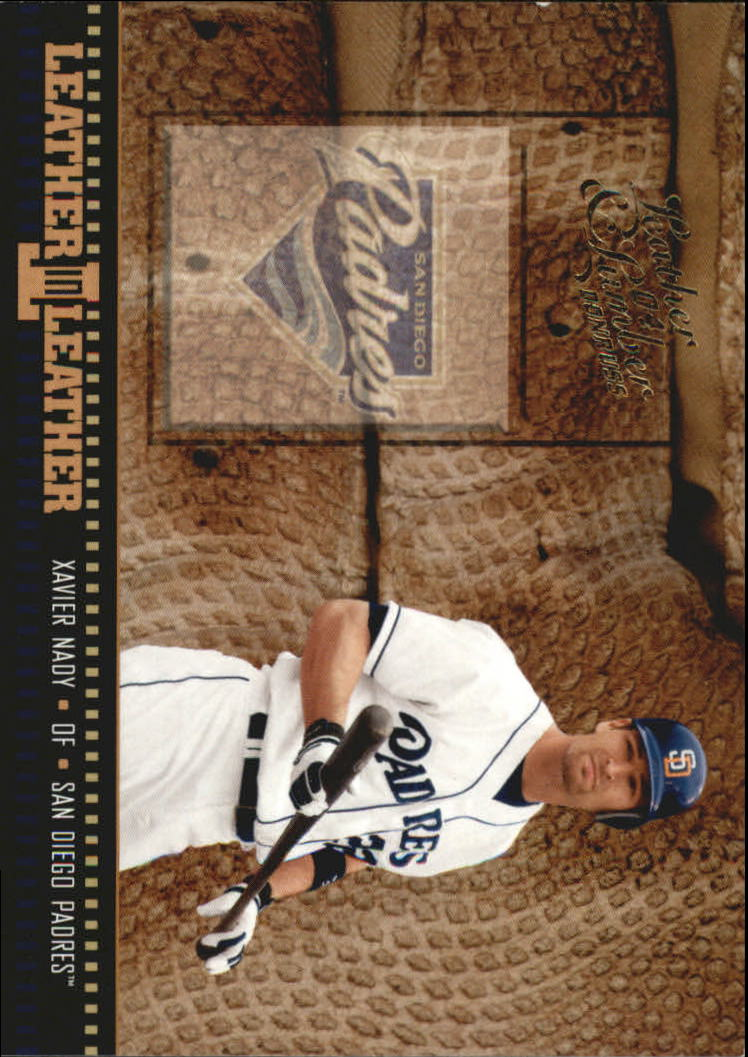 2004 Leather and Lumber Leather in Leather #20 Xavier Nady BG