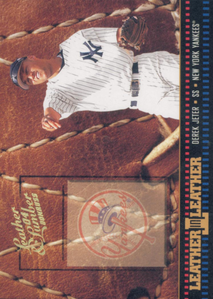 2004 Leather and Lumber Leather in Leather #24 Derek Jeter FG