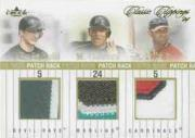 2004 Classic Clippings Jersey Rack Triple Gold Patch #BCP Rocco Baldelli/Miguel Cabrera/Albert Pujols