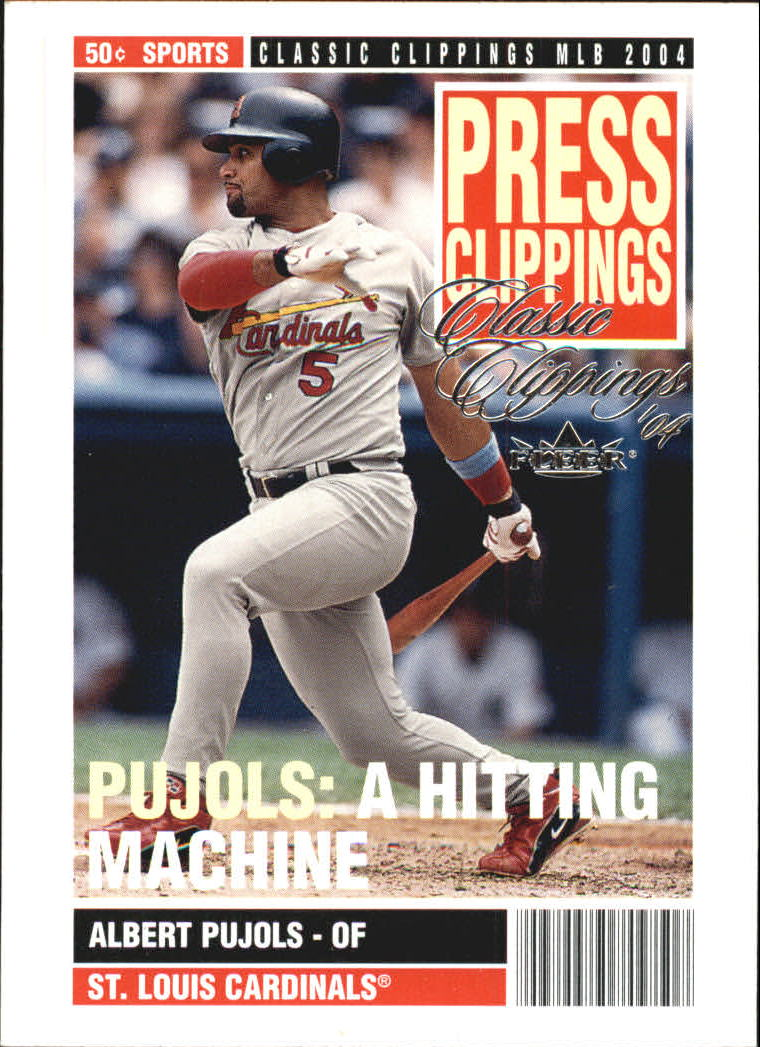 2004 Classic Clippings Press Clippings #2 Albert Pujols