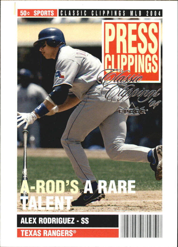 2004 Classic Clippings Press Clippings #4 Alex Rodriguez
