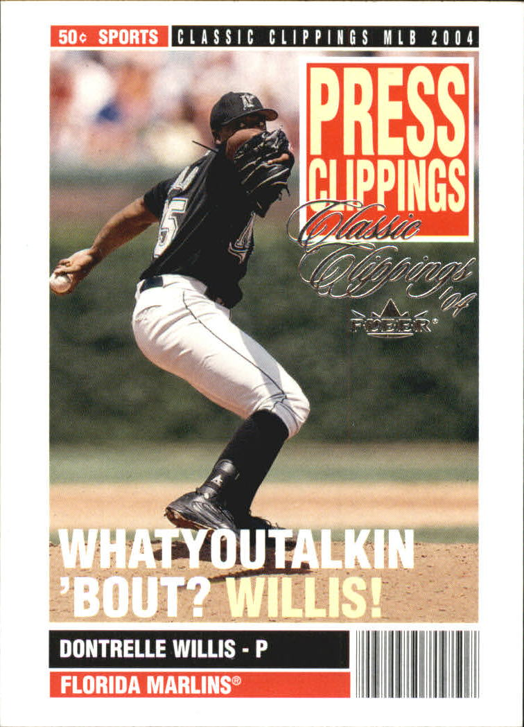2004 Classic Clippings Press Clippings #7 Dontrelle Willis