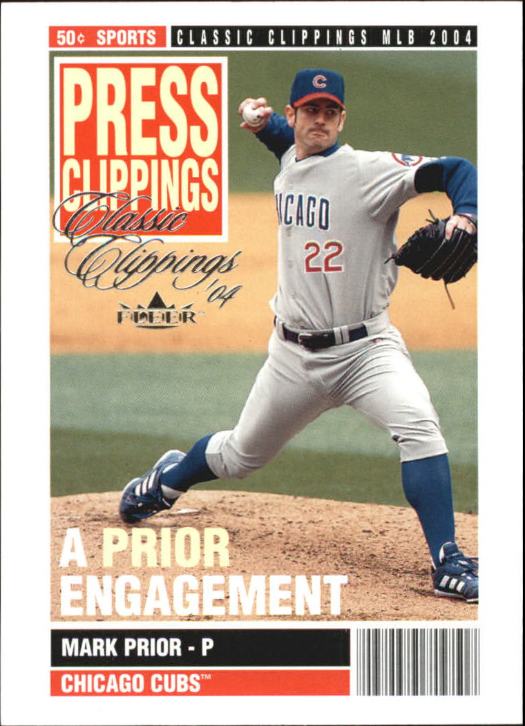 2004 Classic Clippings Press Clippings #10 Mark Prior