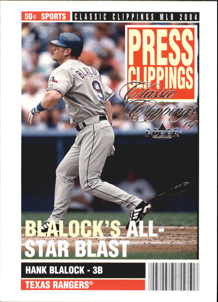 2004 Classic Clippings Press Clippings #17 Hank Blalock
