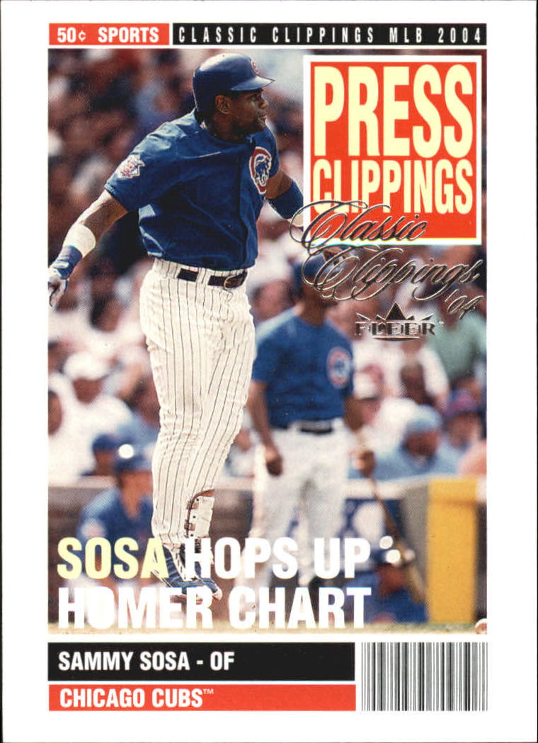 2004 Classic Clippings Press Clippings #19 Sammy Sosa