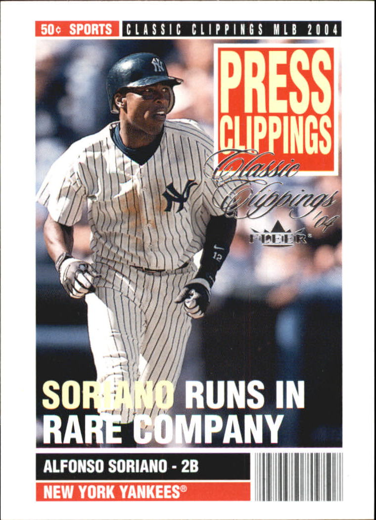 2004 Classic Clippings Press Clippings #20 Alfonso Soriano