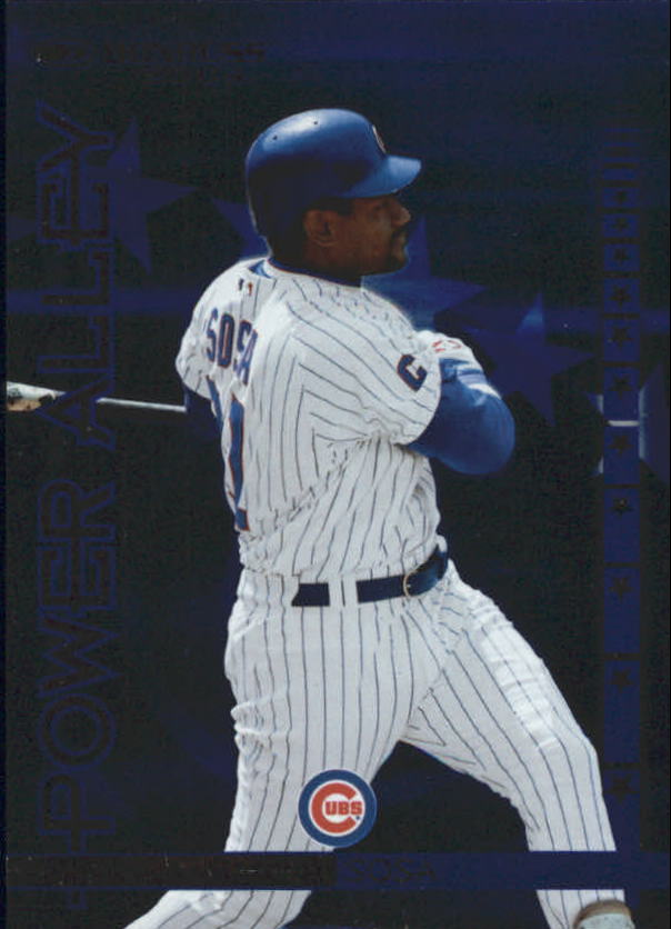 2004 Donruss Power Alley Blue #13 Sammy Sosa front image