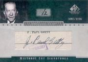 2004 SP Game Used Patch Cut Signatures #JPG Jean Paul Getty/2