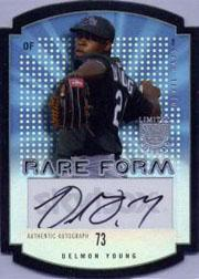 2004 SkyBox LE Rare Form Autograph Black #2 Delmon Young