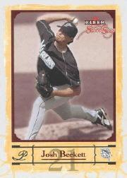 2004 Fleer Sweet Sigs #3 Josh Beckett