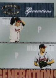 2004 Throwback Threads Generations #8 W.Spahn/G.Maddux