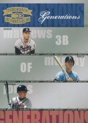 2004 Throwback Threads Generations #15 Mathews/Murphy/Chipper