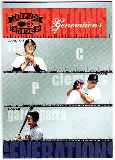 2004 Throwback Threads Generations #19 Fisk/Clemens/Nomar