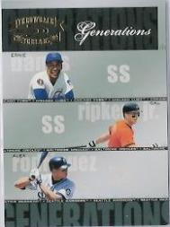 2004 Throwback Threads Generations #25 Banks/Ripken/A.Rod