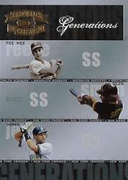 2004 Throwback Threads Generations #26 Reese/Ozzie/Jeter