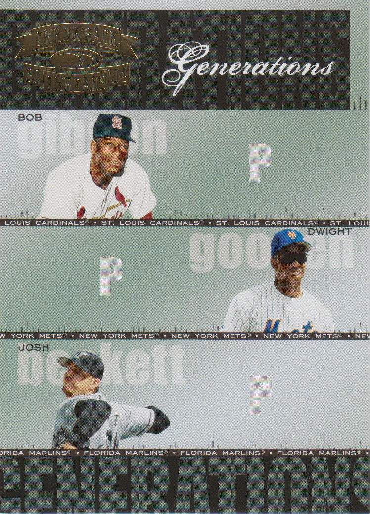 2004 Throwback Threads Generations #28 Gibson/Gooden/Beckett