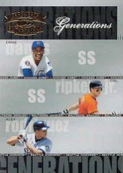 2004 Throwback Threads Generations Spectrum #25 Banks/Ripken/A.Rod