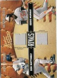 2004 Leather and Lumber Rivals Materials #32 Don Mattingly Pants/Eddie Murray Jsy/250