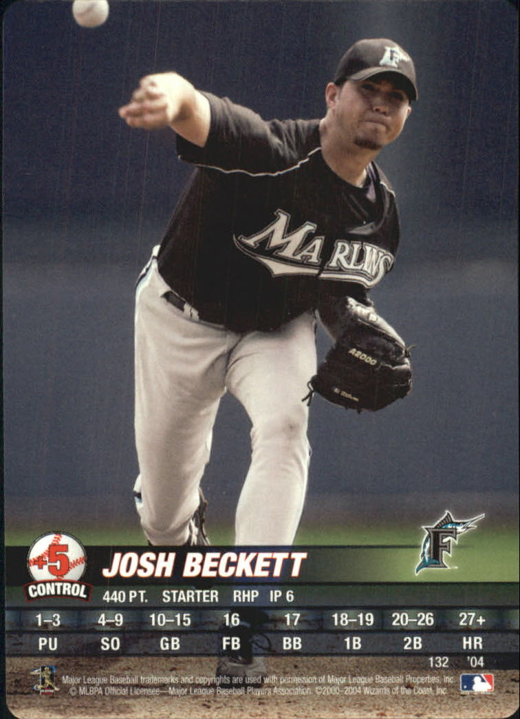 2004 MLB Showdown #132 Josh Beckett front image