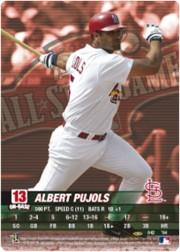 2004 MLB Showdown Pennant Run #42 Albert Pujols AS FOIL front image