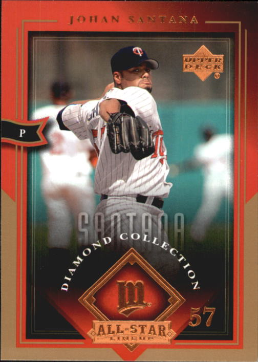 2004 UD Diamond All-Star #50 Johan Santana