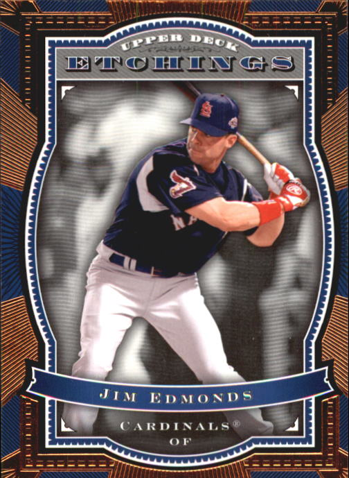 2004 Upper Deck Etchings #3 Jim Edmonds