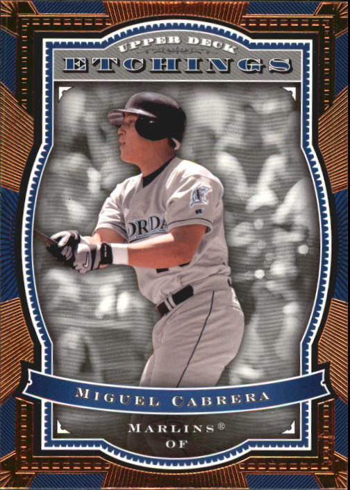 2004 Upper Deck Etchings #61 Miguel Cabrera