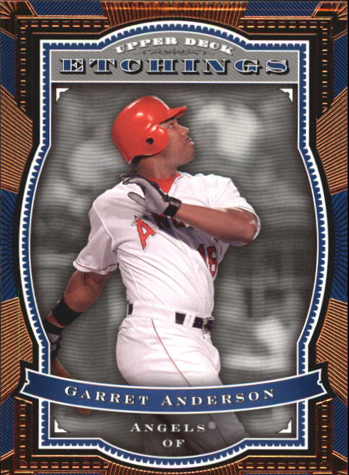 2004 Upper Deck Etchings #85 Garret Anderson
