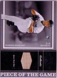 2004 Playoff Honors Piece of the Game Bat #15 Josh Beckett/250