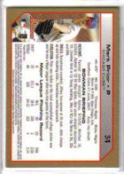 2004 Bowman Gold #34 Mark Prior back image