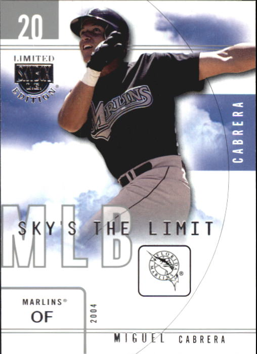 2004 SkyBox LE Sky's the Limit #3 Miguel Cabrera