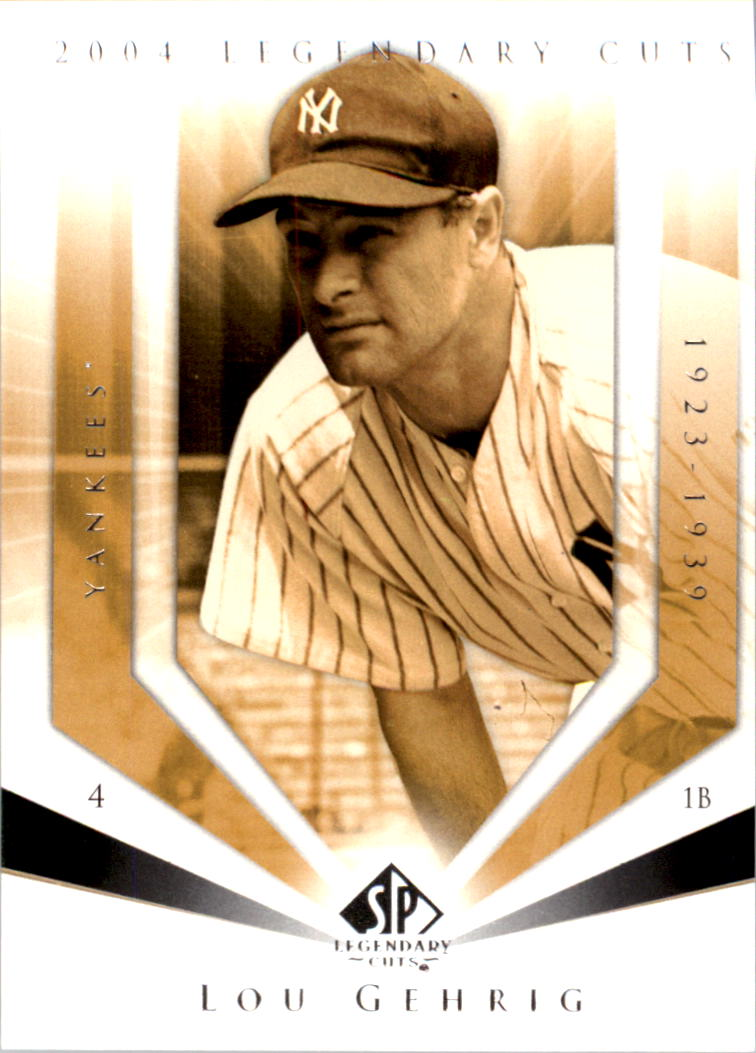 2004 SP Legendary Cuts #73 Lou Gehrig