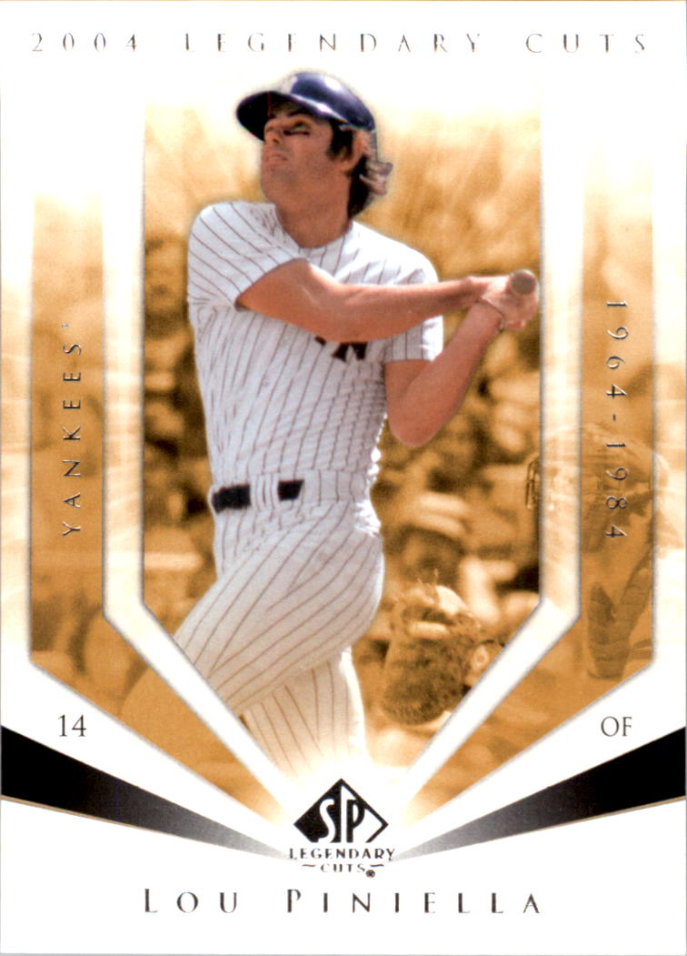 2004 SP Legendary Cuts #74 Lou Piniella