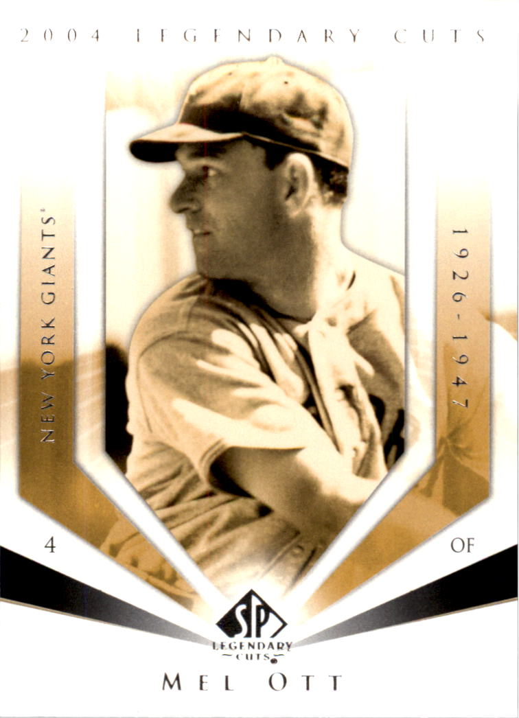 2004 SP Legendary Cuts #77 Mel Ott