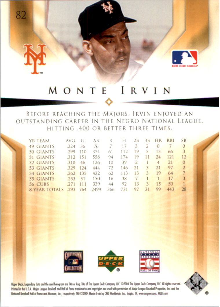 2004 SP Legendary Cuts #82 Monte Irvin